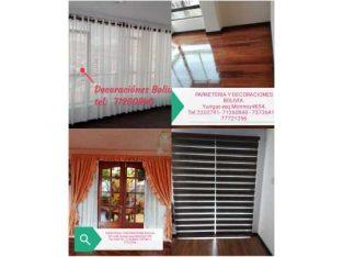 Se realizan cortinas normales minimalistas rollers persianas